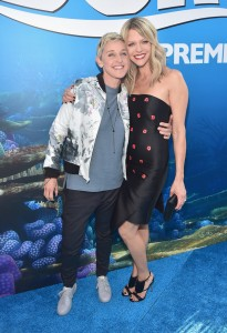 Ellen DeGeneres and Kaitlin Olson at the world premiere of Finding Dory on June 8, 2016 at the El Capitan Theatre, Hollywood Blvd, Los Angeles, CA.