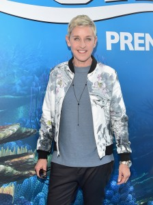 Ellen DeGeneres at the world premiere of Finding Dory on June 8, 2016 at the El Capitan Theatre, Hollywood Blvd, Los Angeles, CA.