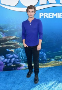 Garrett Clayton at the world premiere of Finding Dory on June 8, 2016 at the El Capitan Theatre, Hollywood Blvd, Los Angeles, CA.