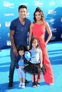 Mario Lopez and family at the world premiere of Finding Dory on June 8, 2016 at the El Capitan Theatre, Hollywood Blvd, Los Angeles, CA.