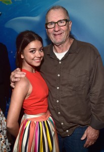 Sarah Hyland and Ed O'Neill at the world premiere of Finding Dory on June 8, 2016 at the El Capitan Theatre, Hollywood Blvd, Los Angeles, CA.