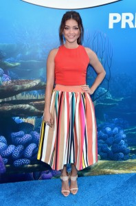 Sarah Hyland at the world premiere of Finding Dory on June 8, 2016 at the El Capitan Theatre, Hollywood Blvd, Los Angeles, CA.