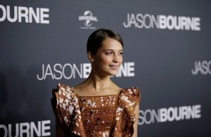 Alicia Vikander at the Australian premiere of Jason Bourne held at Hoyts Entertainment Quarters, Moore Park, Sydney on July 3, 2016.