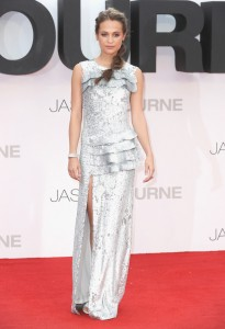 Alicia Vikander at the European premiere of Jason Bourne held at the Odeon, Leicester Square, London on July 7, 2016.