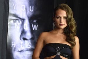 Alicia Vikander at the Las Vegas premiere of Jason Bourne.