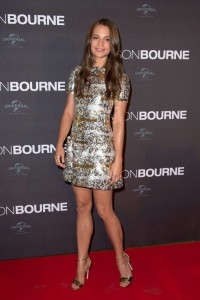 Alicia Vikander at the Paris premiere of Jason Bourne held at Cinéma Pathé Beaugrenelle, Paris, France on July 12, 2016.