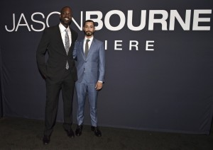 Ato Essandoh and Riz Ahmed at the Las Vegas premiere of Jason Bourne.
