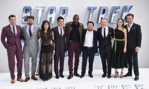 Cast and Director of Star Trek: Beyond at the U.K. Film Premiere held at Empire Cinema, Leicester Square, London of July 12, 2016.