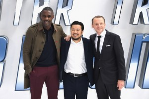 Idris Elba, Justin Lin and Simon Pegg at the U.K. Film Premiere of Star Trek: Beyond held at Empire Cinema, Leicester Square, London of July 12, 2016.