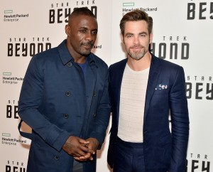 Idris Elba and Chris Pine at the New York Premiere of Star Trek: Beyond held at Crosby Street Hotel, NYC on July 18, 2016.
