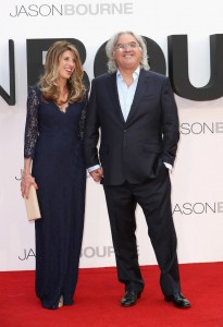 Joanna and Paul Greengrass at the European premiere of Jason Bourne held at the Odeon, Leicester Square, London on July 7, 2016.