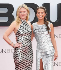 Julia Stiles and Alicia Vikander at the European premiere of Jason Bourne held at the Odeon, Leicester Square, London on July 7, 2016.