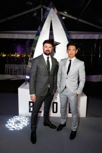 Karl Urban and John Cho at the Australian premiere of Star Trek: Beyond held at The Entertainment Quarter, Moore Park, Sydney on July 7, 2016.