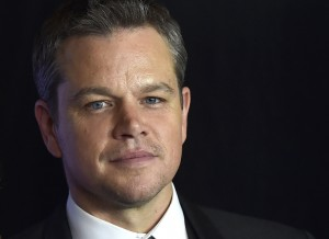 Matt Damon at the Las Vegas premiere of Jason Bourne.