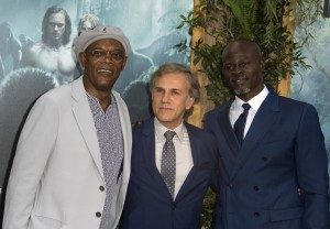 Samuel L. Jackson, Christoph Waltz and Djimon Hounsou at the Los Angeles premiere of The Legend of Tarzan held at TCL Chinese Theatre, Hollywood Blvd on June 27, 2016.
