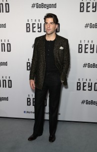 Zachary Quinto at the Australian premiere of Star Trek: Beyond held at The Entertainment Quarter, Moore Park, Sydney on July 7, 2016.
