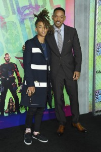 Jaden and Will Smith at the World premiere of Suicide Squad held at The Beacon Theatre, New York City on August 1, 2016.