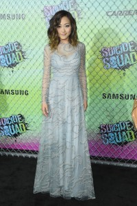 Karen Fukuhara at the World premiere of Suicide Squad held at The Beacon Theatre, New York City on August 1, 2016.