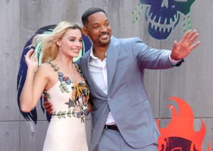 Margot Robbie and Will Smith Suicide Squad London Premiere