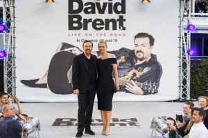 Ricky Gervais and Jane Fallon at the U.K. film premiere of David Brent: Life on the Road held at Odeon, Leicester Square, London on Wednesday August 10, 2016.