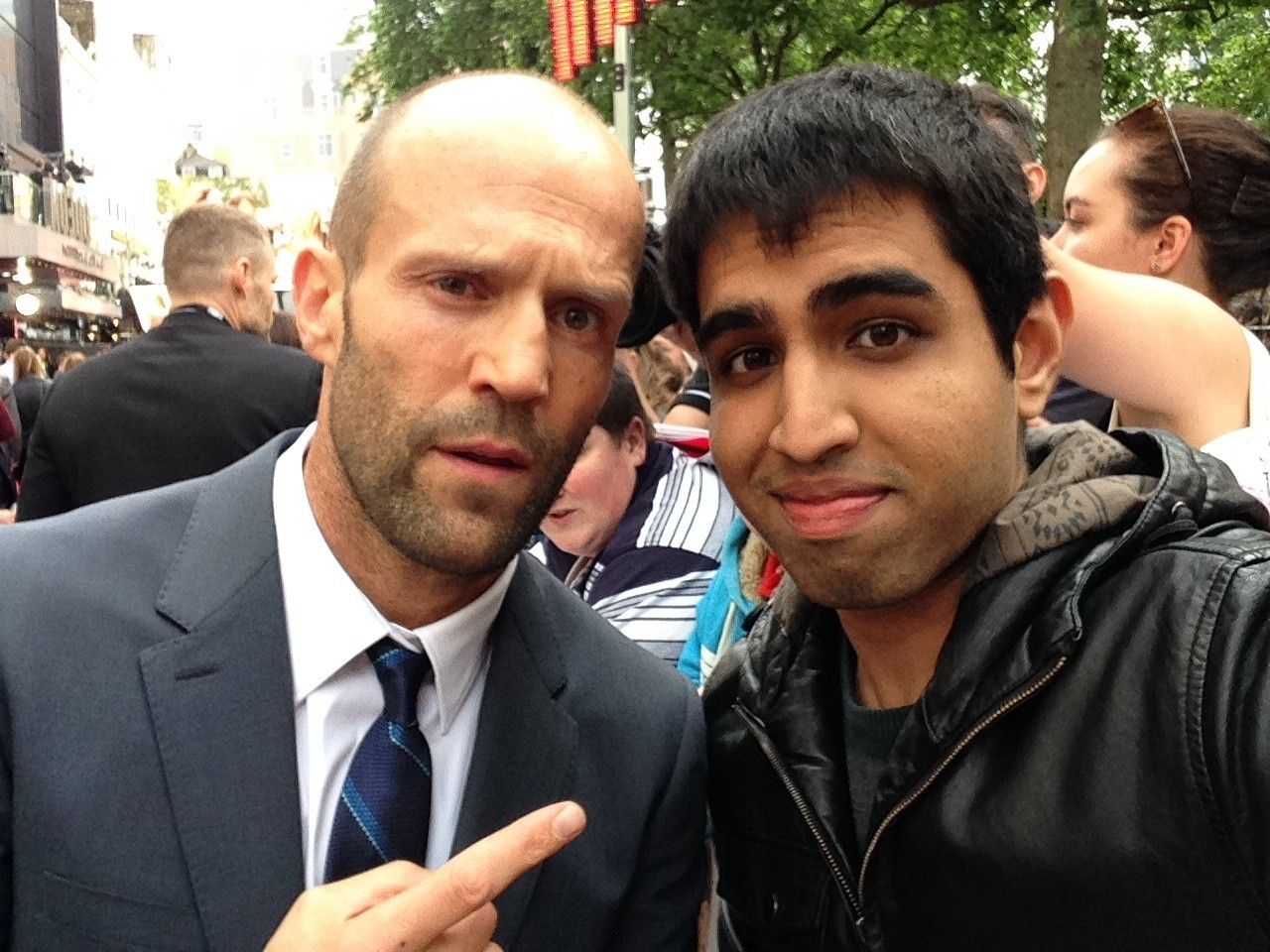 Ashwin Nair meets Jason Statham at the Spy premiere