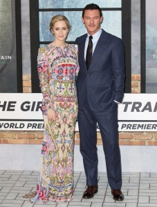 Emily Blunt and Luke Evans The Girl on the Train World Premiere London