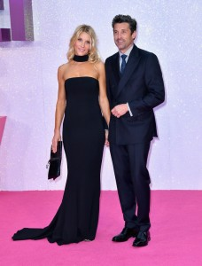 Jillian Fink and Patrick Dempsey at the world premiere of Bridget Jones' Baby held at Odeon, Leicester Square, London on Monday 5th September 2016.