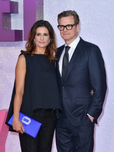 Livia and Colin Firth at the world premiere of Bridget Jones' Baby held at Odeon, Leicester Square, London on Monday 5th September 2016.