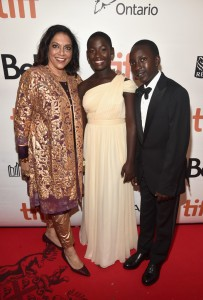 Mira Nair, Madina Nalwanga and Martin Kabanza Queen of Katwe Toronto International Film Festival Premiere
