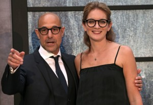 Stanley Tucci and Felicity Blunt The Girl on the Train World Premiere London