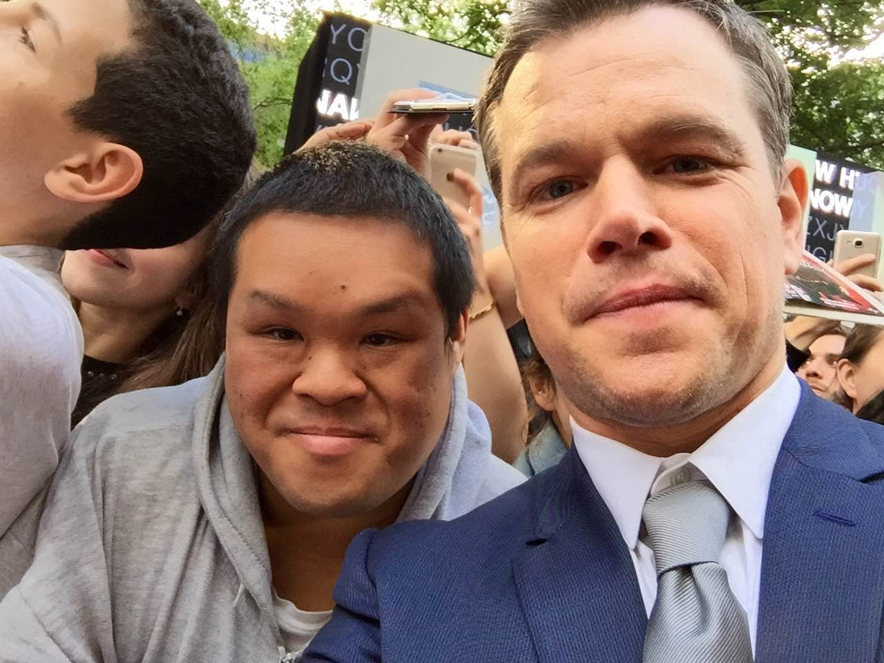 Matt Damon meets fans