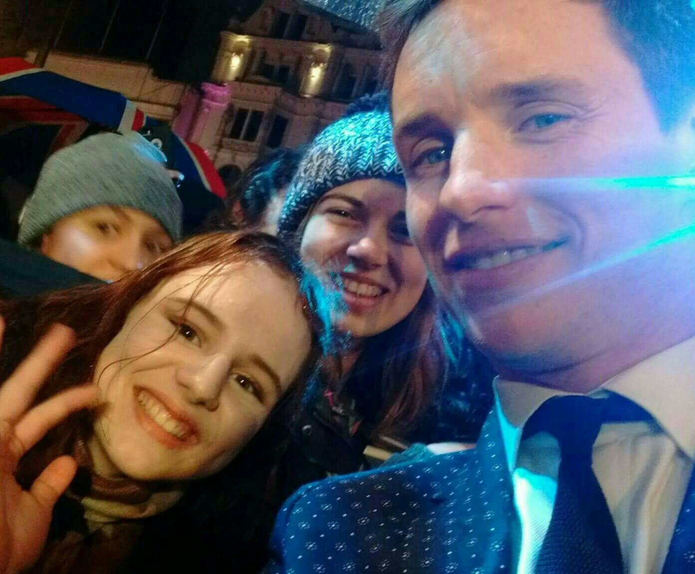 Eddie Redmayne meets fans at the London premiere of fantastic beasts