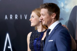 Amy Adams and Jeremy Renner Arrival Hollywood Premiere Los Angeles California