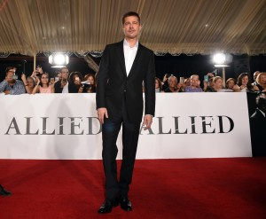 Brad Pitt Allied Hollywood Los Angeles Premiere Fan Event