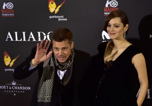 Brad Pitt and Marion Cotillard Allied Madrid Premiere Spain