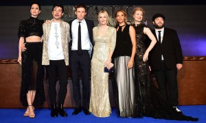 Cast of Fantastic Beasts and Where to Find Them and J.K. Rowling European premiere London