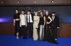 Cast of Fantastic Beasts and J.K. Rowling at the European premiere London