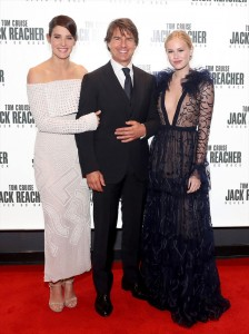 Cobie Smulders, Tom Cruise and Danika Yarosh Jack Reacher: Never Go Back London Premiere