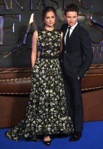 Hannah Baghsawe and Eddie Redmayne Fantastic Beasts and Where to Find Them European Premiere London Arrivals