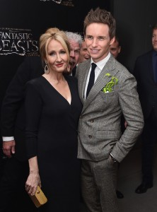 J.K. Rowling and Eddie Redmayne Warner Bros. Fantastic Beasts and Where to Find Them World Premiere New York