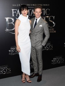 Katherine Waterston and Eddie Redmayne Warner Bros. Fantastic Beasts and Where to Find Them World Premiere New York