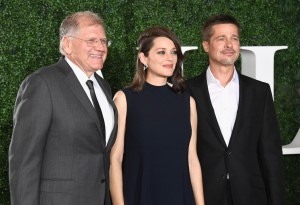 Robert Zemeckis, Marion Cotillard and Brad Pitt Allied Hollywood Los Angeles Premiere Fan Event