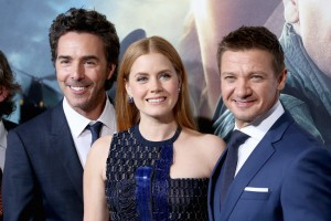 Shawn Levy, Amy Adams and Jeremy Renner Arrival Hollywood Premiere Los Angeles California