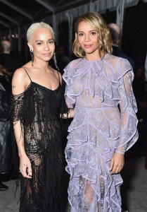 Zoe Kravitz and Carmen Ejogo Warner Bros. Fantastic Beasts and Where to Find Them World Premiere New York