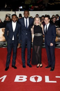 Usain Bolt and team I Am Bolt World Premiere London Leicester Square