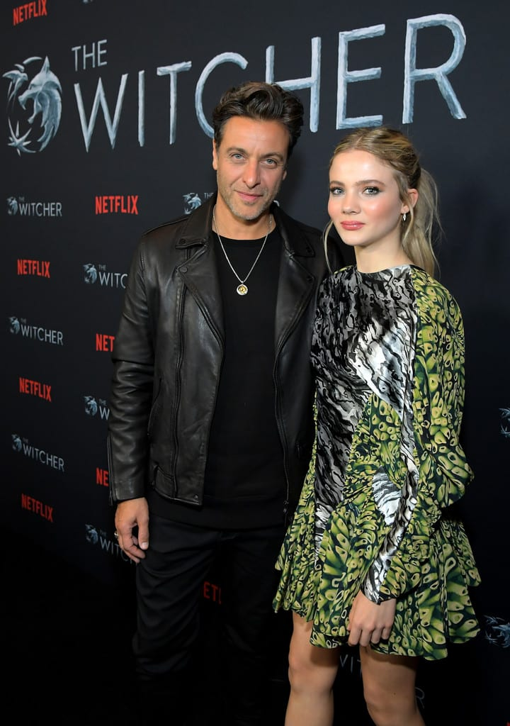 Adam Levy and Freya Allan Netflix's The Witcher Fan Screening Experience Event Los Angeles