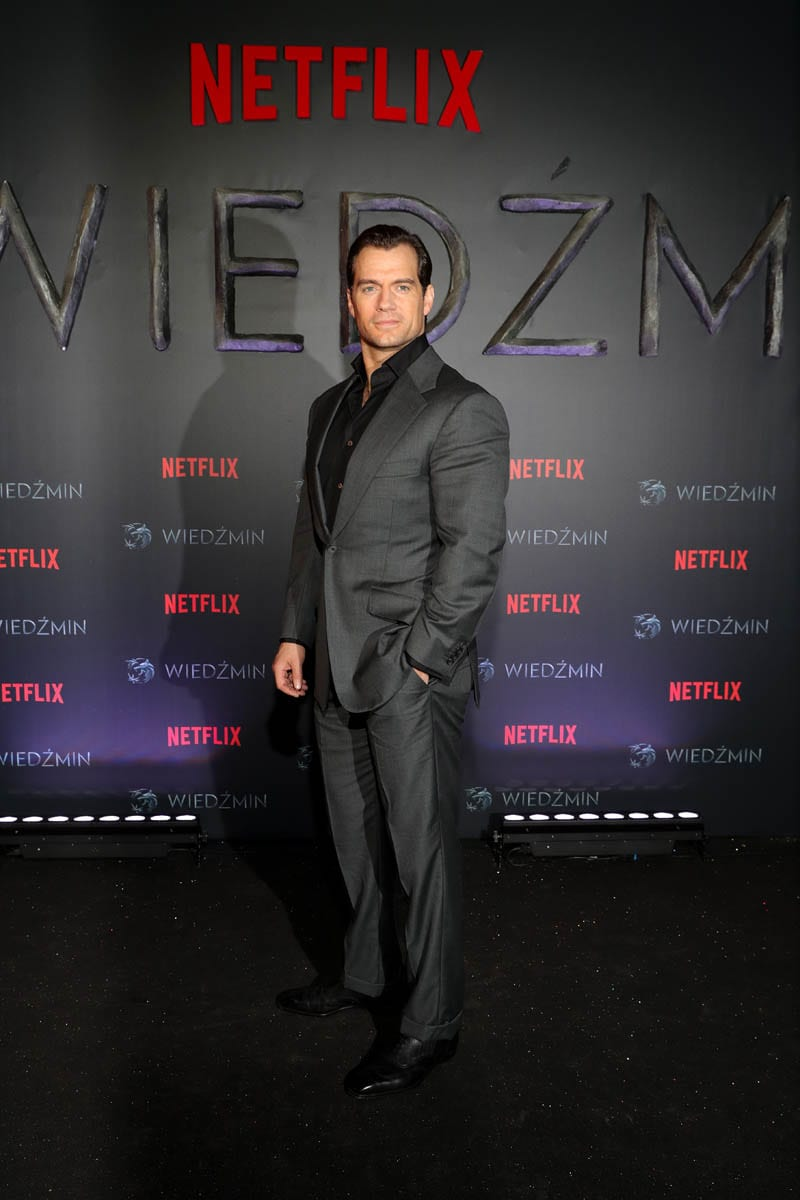 Henry Cavill Netflix's The Witcher Polish Premiere Warsaw Poland