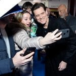 Jim Carrey and fans Sonic the Hedgehog UK Premiere London Red Carpet Arrivals