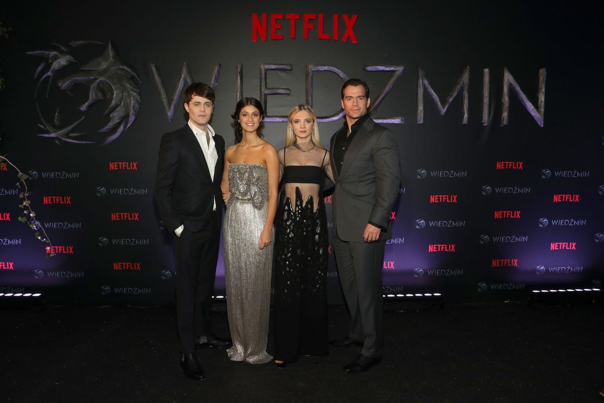 Cast of Netflix's The Witcher Polish Premiere Warsaw Poland