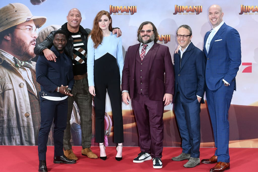 Cast of Jumanji The Next Level Berlin Premiere Germany Red Carpet